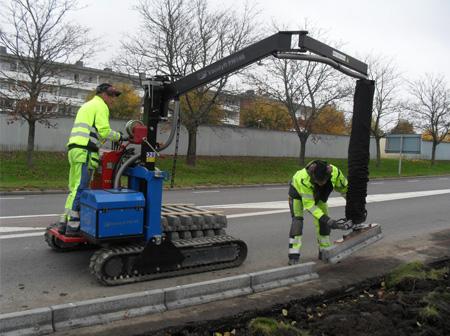 Masini cu vacuum pentru montaj pavele, borduri, dale beton, etc.